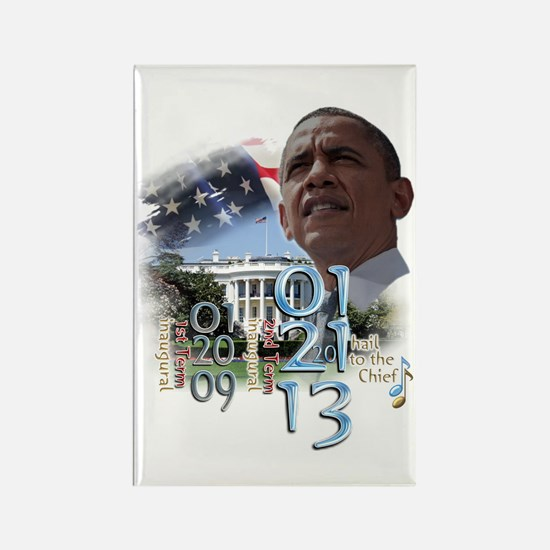 Obama's 2 Terms: Rectangle Magnet