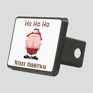 Ho Ho Ho Santas Mooning Merry Christmas Rectangula