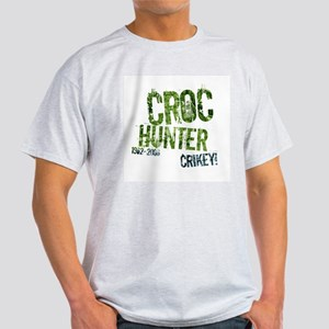 Crikey Crocodile Hunter Ash Grey T-Shirt