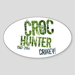 Crikey Crocodile Hunter Oval Sticker