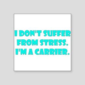 Stress Carrier Rectangle Sticker