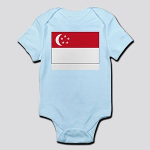 Singapore Flag Picture Infant Creeper