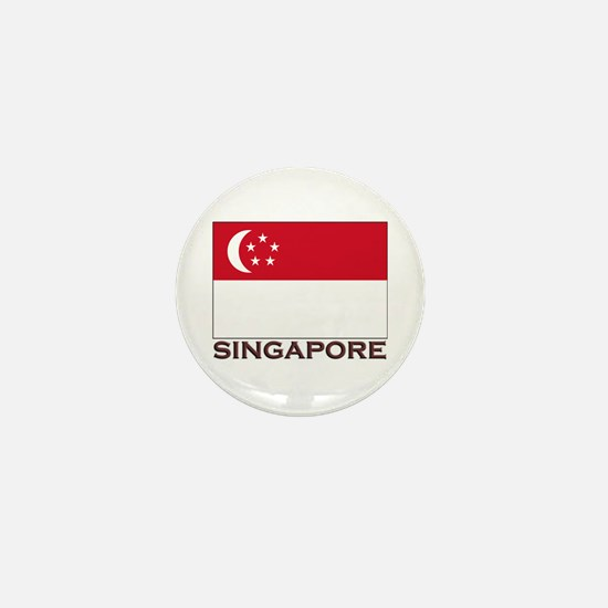 Singapore Flag Stuff Mini Button