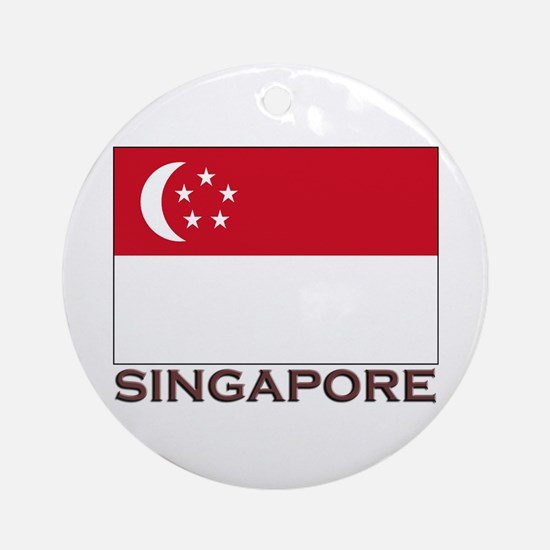 Singapore Flag Stuff Ornament (Round)