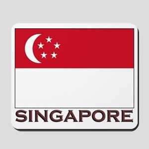 Singapore Flag Stuff Mousepad