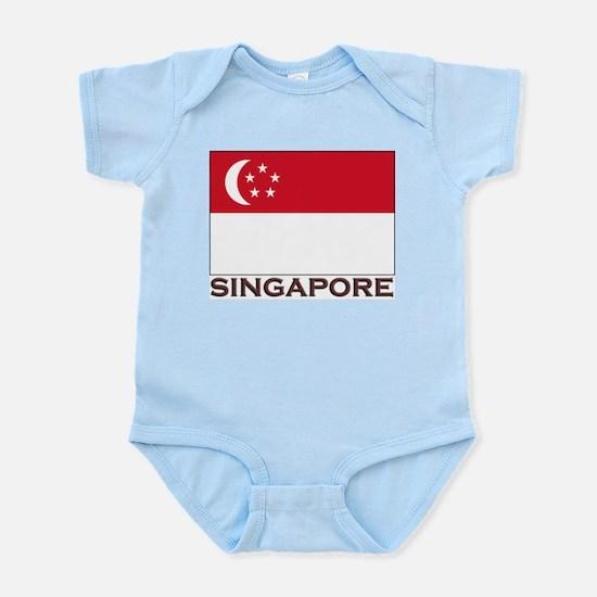 Singapore Flag Stuff Infant Creeper