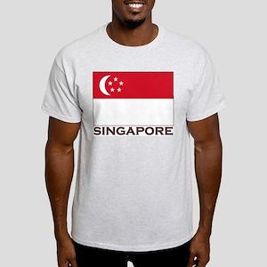 Singapore Flag Stuff Ash Grey T-Shirt