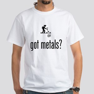 Metal Detecting White T-Shirt