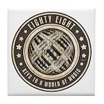 Eighty Eight Keys Tile Coaster