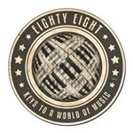 Eighty Eight Keys Round Car Magnet