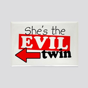 She Evil Twin Rectangle Magnet
