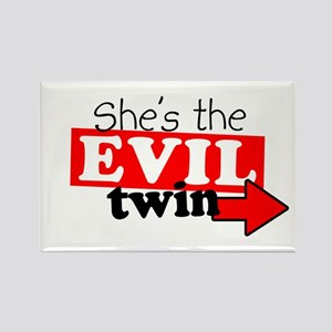 She Evil Twin 2 Rectangle Magnet