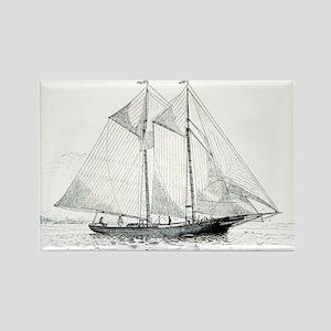 American Fishing Schooner Rectangle Magnet