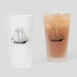 American Fishing Schooner Drinking Glass