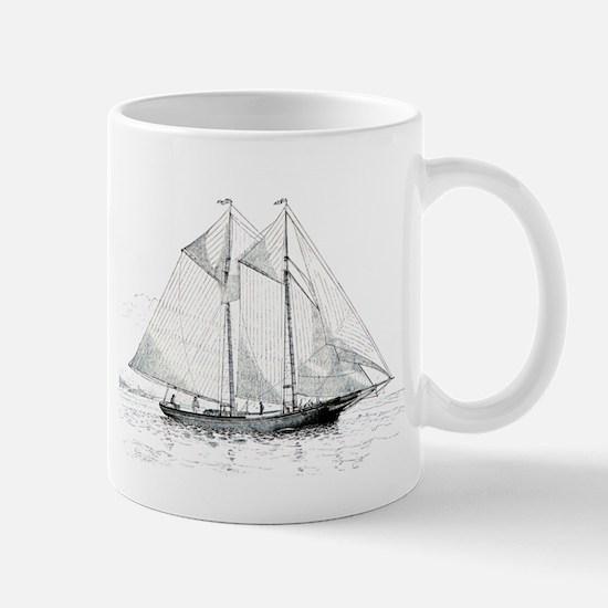 American Fishing Schooner Mug