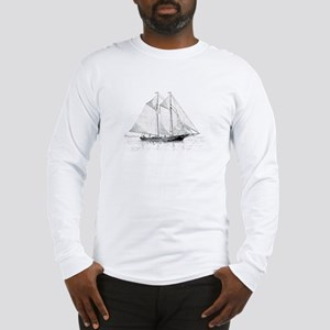 American Fishing Schooner Long Sleeve T-Shirt