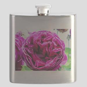 Gorgeous Deep Pink Peonie Flask