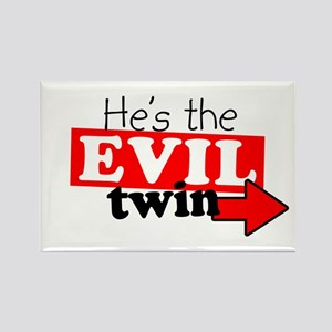 He Evil Twin 2 Rectangle Magnet