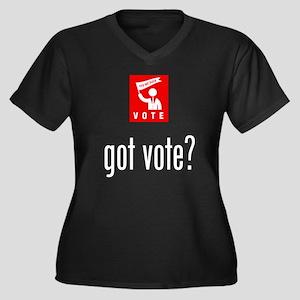 Politician Women's Plus Size V-Neck Dark T-Shirt