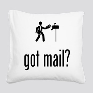 Mailman Square Canvas Pillow