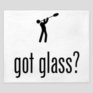 Glass Making King Duvet