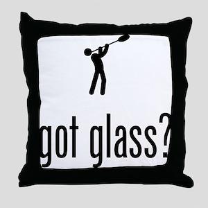 Glass Making Throw Pillow