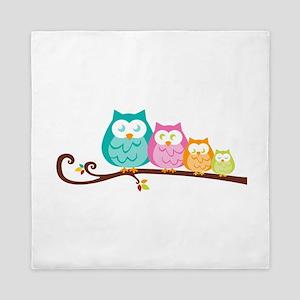 Owl family Queen Duvet