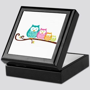Owl family Keepsake Box