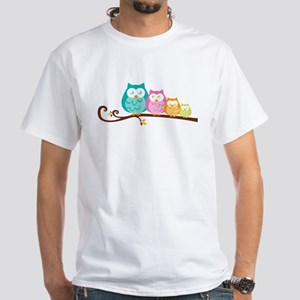 Owl family White T-Shirt