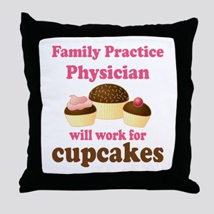 Family Practice Physician Throw Pillow