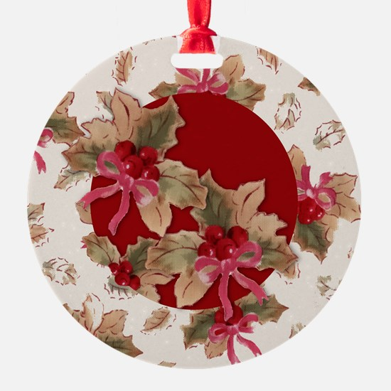 Holiday Holly Ornament