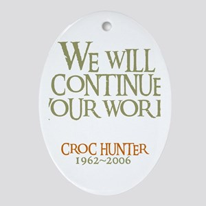 Crikey Crocodile Hunter Oval Ornament