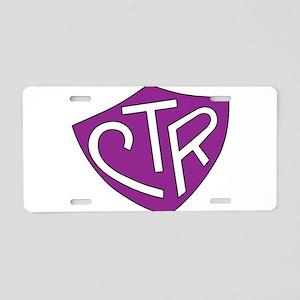 CTR Ring Shield Purple Aluminum License Plate