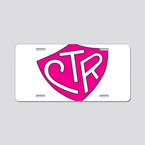 CTR Ring Shield Hot Pink Aluminum License Plate
