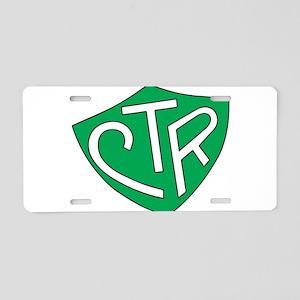 CTR Ring Shield Green Aluminum License Plate