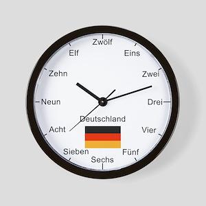 German Language Wall Clock