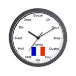 French Language Wall Clock