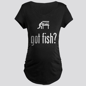 Fish Lover Maternity Dark T-Shirt