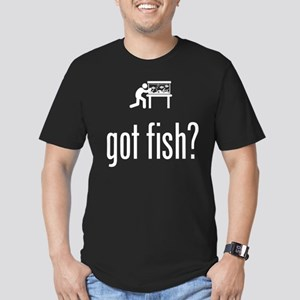 Fish Lover Men's Fitted T-Shirt (dark)