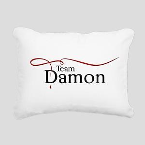 VD Team Damon black Rectangular Canvas Pillow