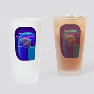 neuro nurse cell case 4 Drinking Glass