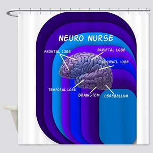 neuro nurse cell case 4 Shower Curtain