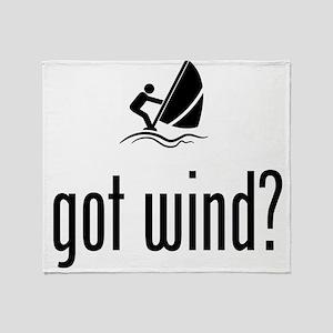 Wind Surfing Throw Blanket