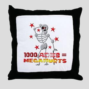 Megahurts Throw Pillow