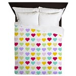 Rainbow Hearts Queen Duvet