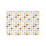 Rainbow Hearts 5'x7'Area Rug