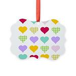 Rainbow Hearts Picture Ornament