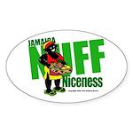 Jamaica Nuff Niceness Oval Sticker