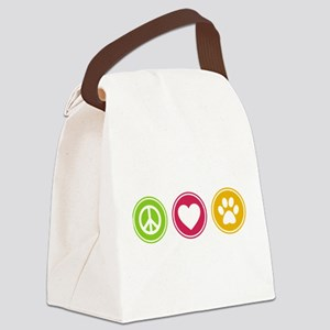 Peace - Love - Dogs Canvas Lunch Bag