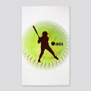 iHit Fastpitch Softball 3'x5' Area Rug